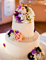 Gristmill wedding cake featured on Real Weddings blog
