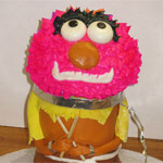 Animal Cake - a three dimensioanl cake rendition of the (in)famous muppet