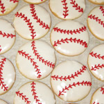 Custom baseball cookies for a sporting event