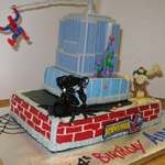 Spiderman and the Evil Four Cake