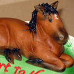 3-D Horse (Welsh Cobb Bay) Birthday Cake.