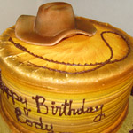 Hat and Whip Cake, a custom Gristmill cake