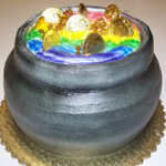 Carved Pot of Gold Cake, a Gristmill custom cake