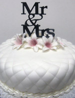 Quilted fondant wedding cake.