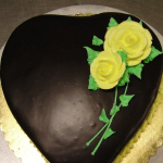 Sweetheart cake. Great for Mother's day, too.