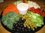 Deli Vegetable Tray from the Gristmill Bakery and Deli