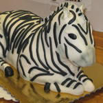 3-D Zebra Birthday Cake.