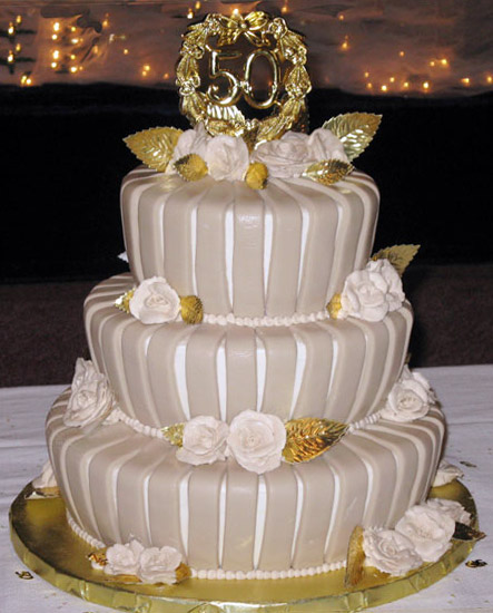 golden50 Images Of Th Wedding Anniversary Cakes
