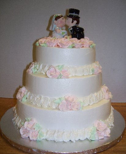 cute wedding cake gristmill bakery cake galleries seasonal cakes 13271